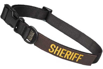 Large Tactical Dog Collar 17-23 in. SHERIFF