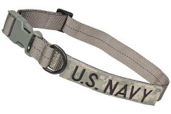 Large Tactical Dog Collar 17-23 in. U.S. NAVY