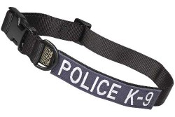 Large Tactical Dog Collar 17-23 in. POLICE K-9